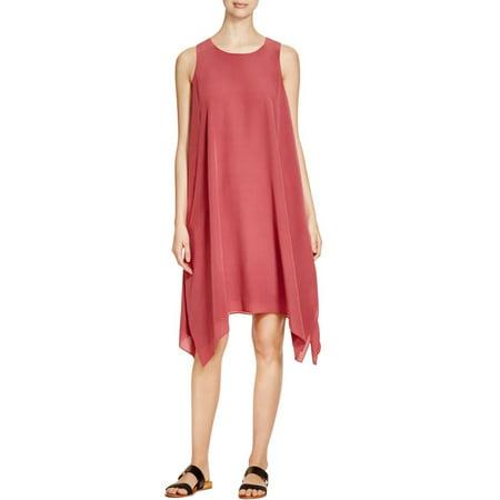 0d78f7988e Eileen Fisher - Eileen Fisher Womens Silk Handkerchief Hem Casual Dress -  Walmart.com