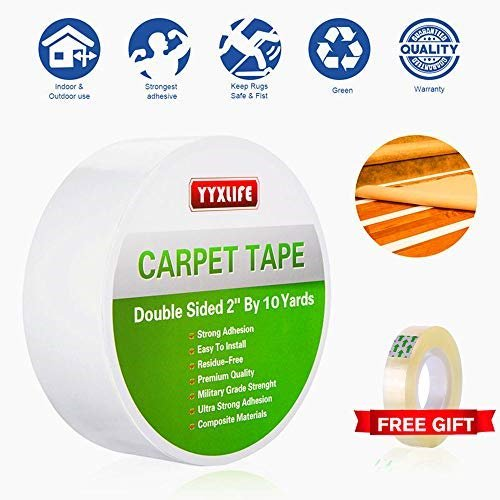 Yyxlife Double Sided Carpet Tape For Area Rugs Carpet Adhesive Rug Gripper Removable Multi Purpose Rug Tape Cloth For Hardwood Floors Outdoor Rugs Carpets Heavy Duty Sticky Tape 2inch X 10 Yards White Walmart Com Walmart Com