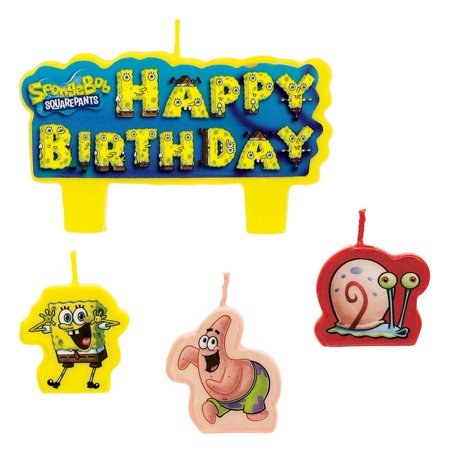 SpongeBob Candle Set (4 Pack) - Party Supplies