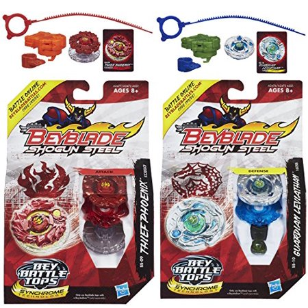 Beyblade Shogun Steel Beybattle Thief Phoenix SS-09 Top & Guardian Leviathan SS-10 Top Bundle - image 1 of 1