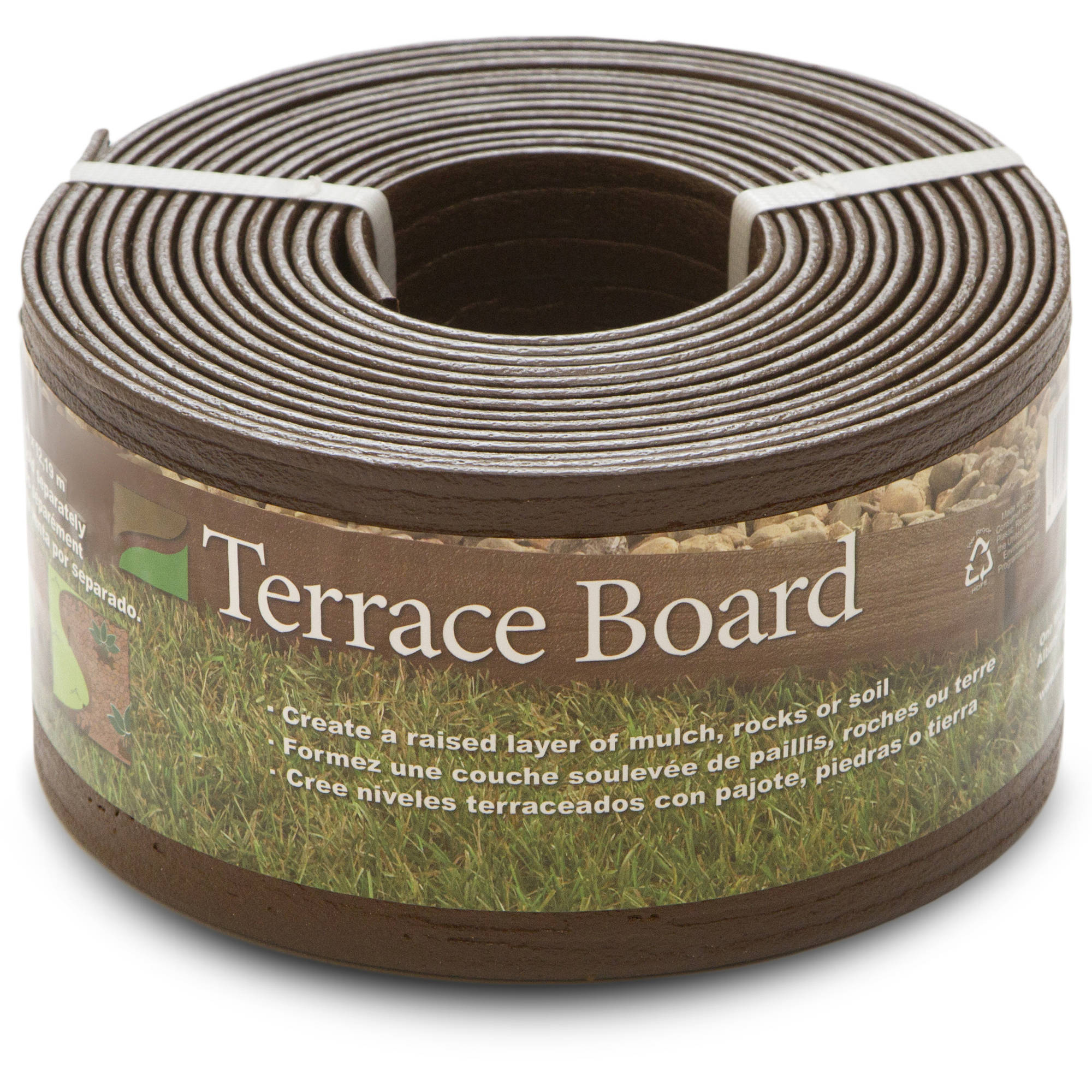 "4"" Brown Terrace Board, 20' with 5 Stakes"