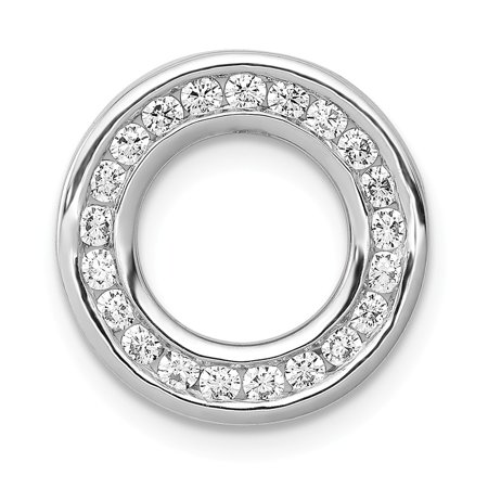 White Gold Circle Pendant (KIOKORI 14K White Gold Diamond Circle Pendant 3/8-Carat )