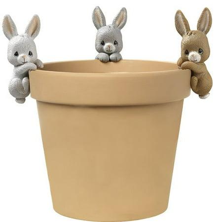 Precious Moments Bunny Trio Set Of Three Pot Hangers Resin 171454