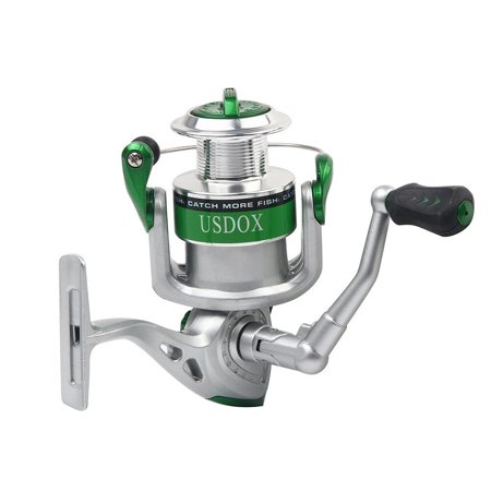 Ediors Spinning Fishing Reel Metal Spool Folding Arm Saltwater Fishing - Saltwater Reels