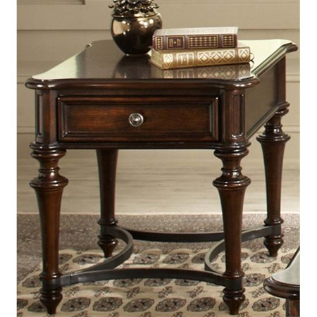 Liberty Furniture Kingston End Table in Cognac