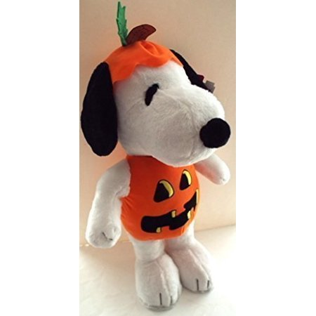 peanuts snoopy halloween greeter, pumpkin plush - Halloween Greeter