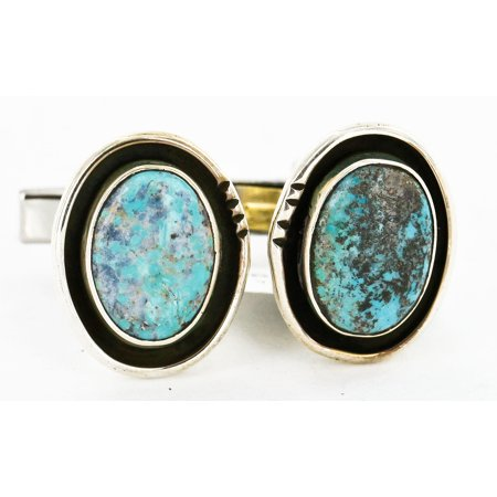 Handmade Certified Authentic Navajo .925 Sterling Silver Natural Turquoise Native American Cuff (Native American Cuff)