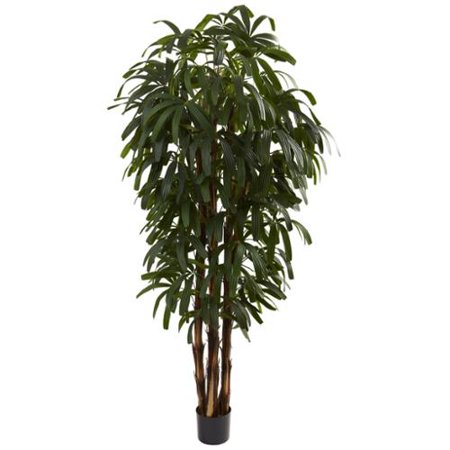 Nearly Natural 6-foot Raphis Palm Tree Decorative Plant