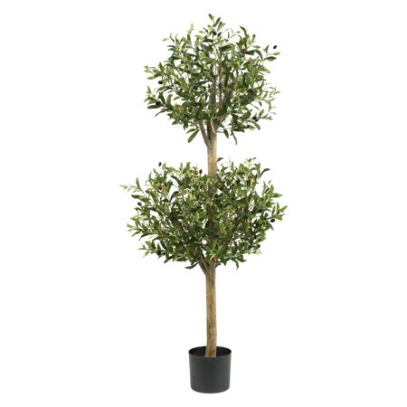 Nearly Natural Olive Double Topiary Silk Tree