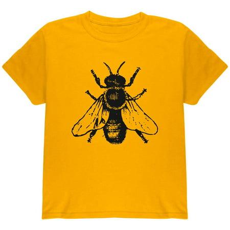 Honey Bee Bees Woodcut Youth T Shirt (Honey Clothes)