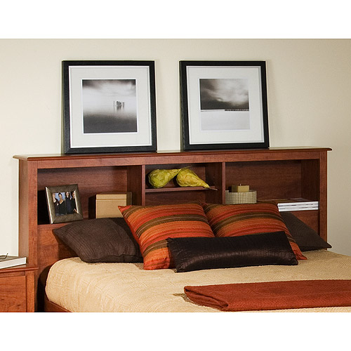 Edenvale Full Queen Storage Headboard, Cherry by Prepac