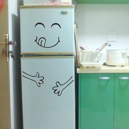 - Cute Sticker Fridge Happy Delicious Face Kitchen Fridge Wall Stickers Art