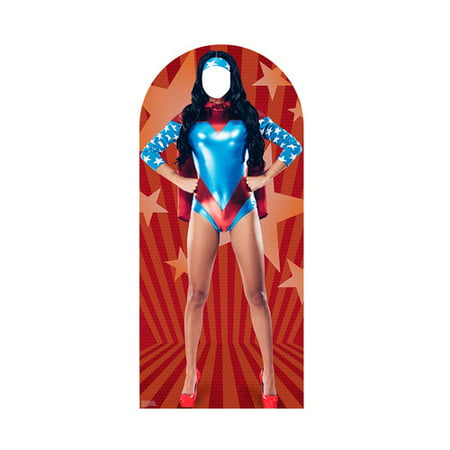 Advanced Graphics Woman Superhero Cardboard Cutout Life Size Stand-In