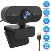 PC Webcam, EEEkit 1080P Full HD Webcam USB Desktop & Laptop Webcam Live Streaming Webcam with Microphone 110-Degree Widescreen HD Video Webcam for Video Calling (HD Webcam)