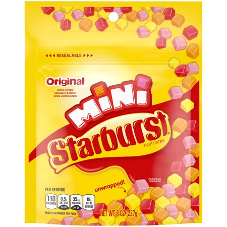 Starburst Original Minis Fruit Chews Candy, 8 Ounce Bag