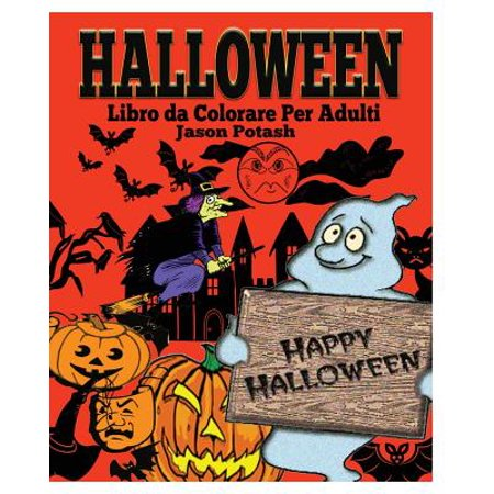 Halloween Libro Da Colorare Per Adulti](Fantasma Halloween Da Colorare)
