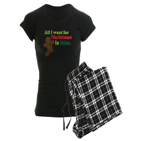 CafePress - Couples Funny Christmas - Women's Dark Pajamas