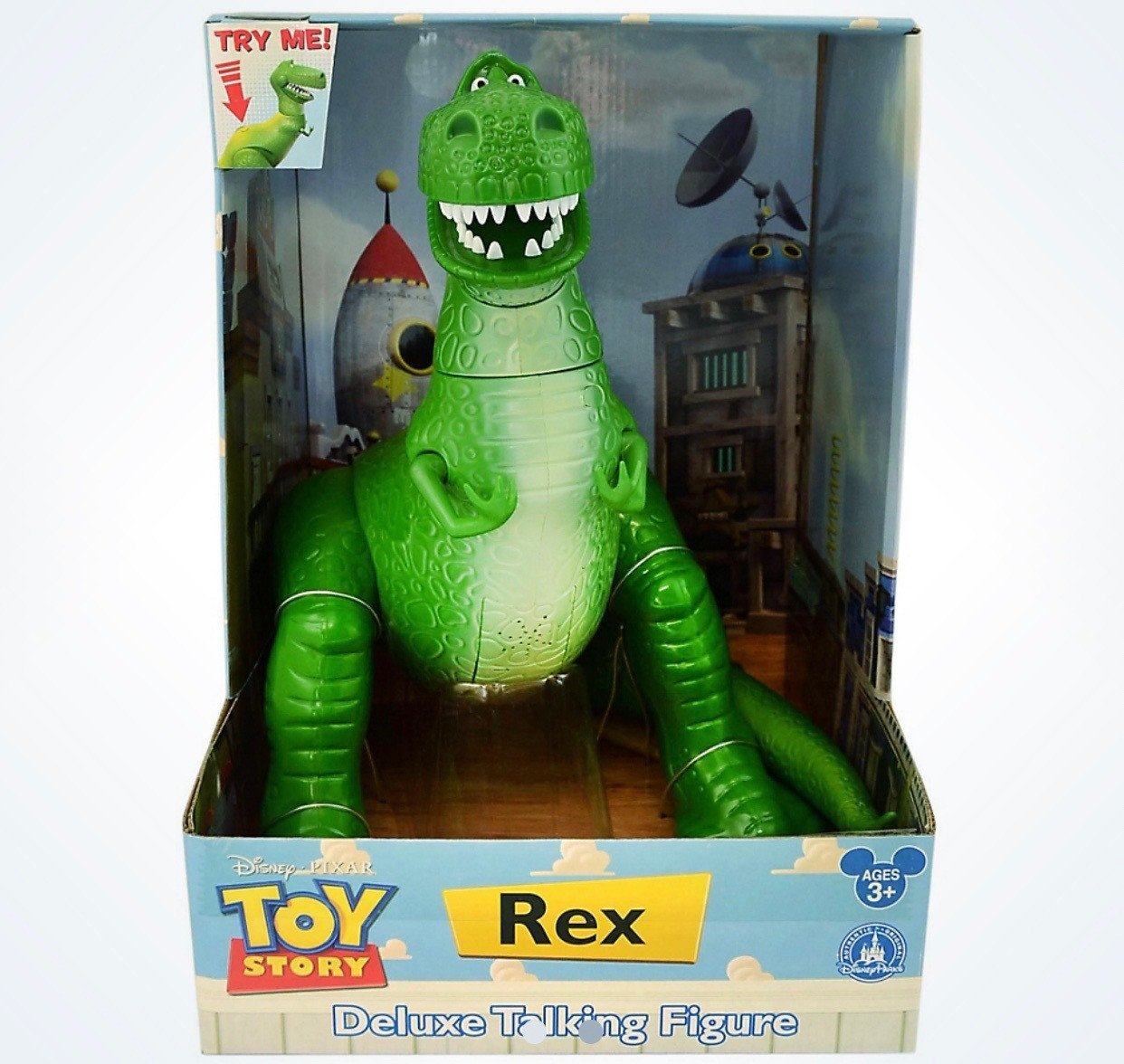 "Disney Parks Toy Story Rex Deluxe 12"" Talking Figure New with Box by"