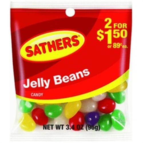 Sathers Jelly Beans 12 pack (3.4oz per pack) (Pack of 3)