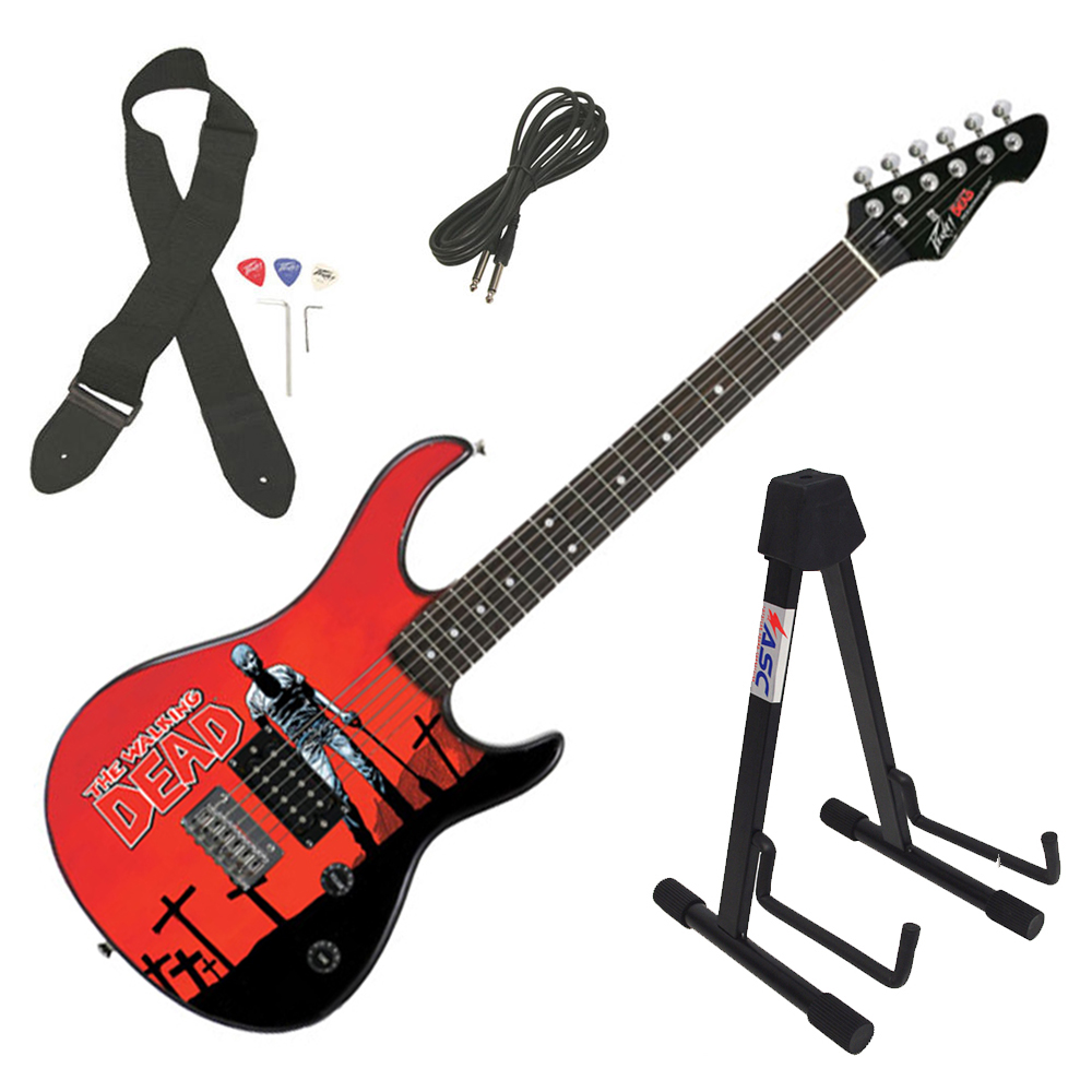 Peavey Rockmaster The Walking Dead - Grave Digger Rick Electric Guitar & Stand