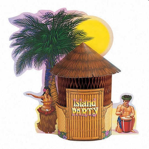 Tiki Hut Luau Party Centerpiece