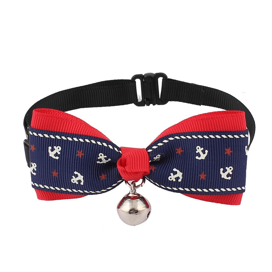 Unique Bargains Pet Dog Cat Puppy Anchor Pattern Bowknot Bowtie Necktie Collar Dark Blue