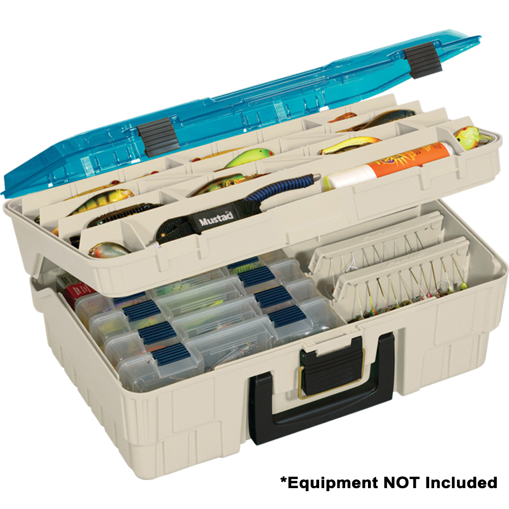 Plano Two Level Magnum 3500 Tackle Storage Box, Beige/Blue