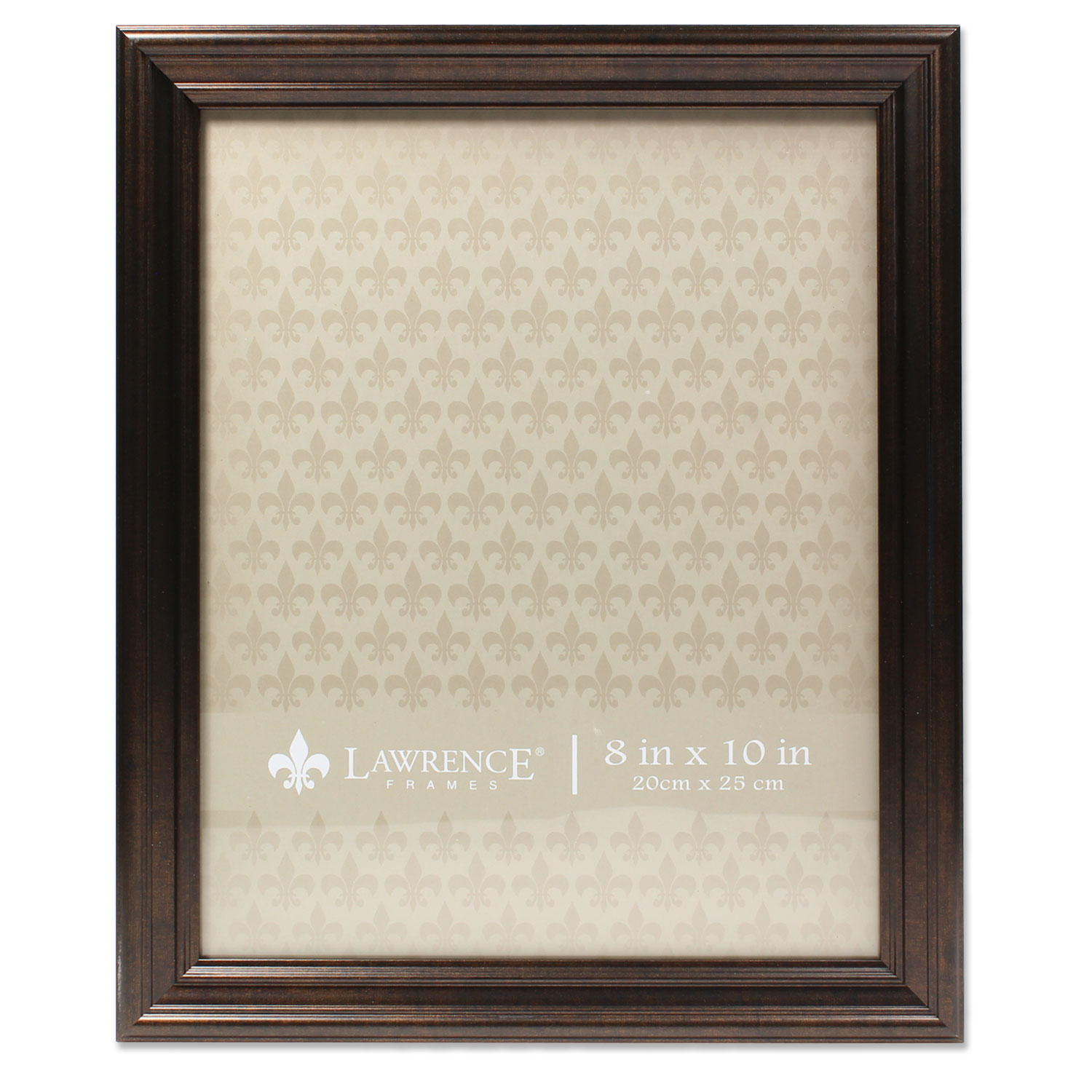 8x10 Classic Detailed Oil Rubbed Bronze Picture Frame by Lawrence Frames