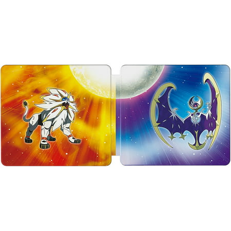 Pokemon Sun and Pokemon Moon Steelbook Dual Pack [Nintendo 3DS] About the productThe Pokemon Sun and Pokemon Moon Steel book contains both Pokemon Sun and Pokemon Moon games in addition to a collectible Steel book caseThe outer art features Legendary Pokemon, Solgaleo and LunalaThe inner art features a map of some of the Alola RegionGames in 2D. Some areas also playable in 3D. Games sold separatelyRated E Everyone w/ Mild Cartoon Violence