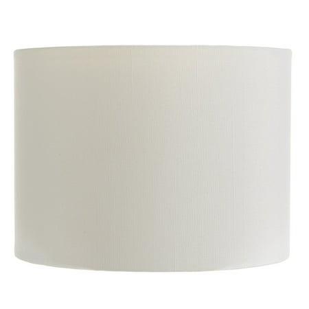 White Silk 5 Inch Retro Barrel Drum Clip on Chandelier Lampshade ()