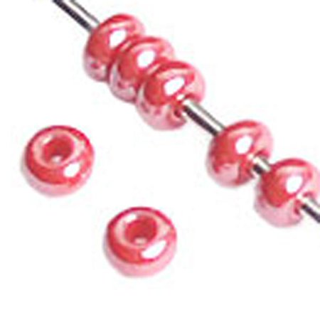 10/0 Pearl - 10/0 Pearl Red Czech Seedbead 40 grams