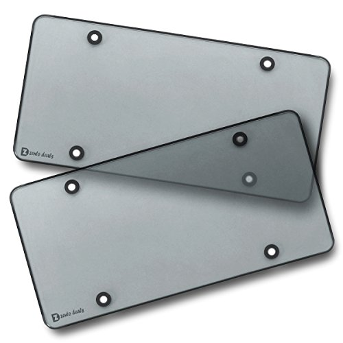 Zento Deals Clear Smoked License Plate Shields - 2-Pack – Novelity / License Plate Clear Smoked Flat Shields Covers