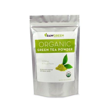 Thé vert-froid biologique Poudre Pressée (8 oz)