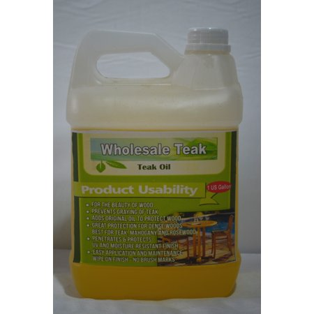 WholesaleTeak Outdoor Patio Teak Wood Furniture Oil Finish Sealant Protector Sealer - 1 Gallon