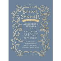 Glamorous Bride Standard Bridal Shower Invitation