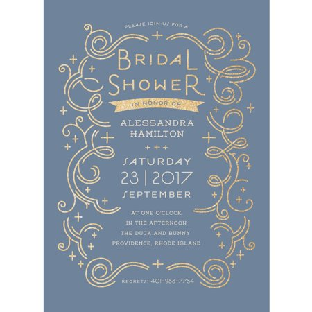 Glamorous bride standard bridal shower invitation for Walmart wedding shower invitations