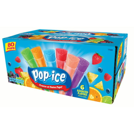 Pop-Ice Assorted Flavors Freezer Pops, 1.5 Fl. Oz., 80 - Ring Pop Flavors