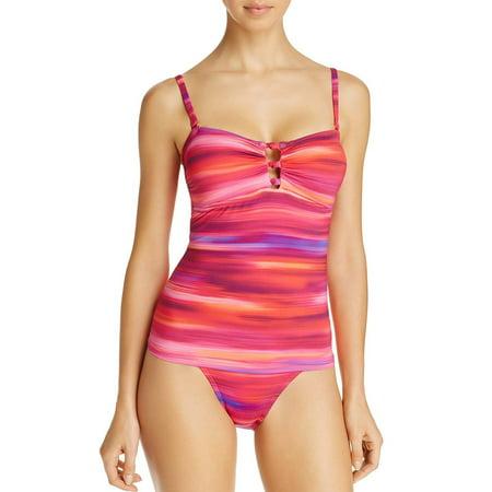 Lauren Ralph Lauren Womens Swimsuit Tankini Top 8 Pink Multi Ombre -
