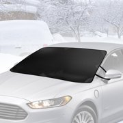 (2 pack) BDK Winter Defender - Car Windshield Cover for Ice and Snow, Magnetic Waterproof Frost (Best Car Cover For Snow And Ice)