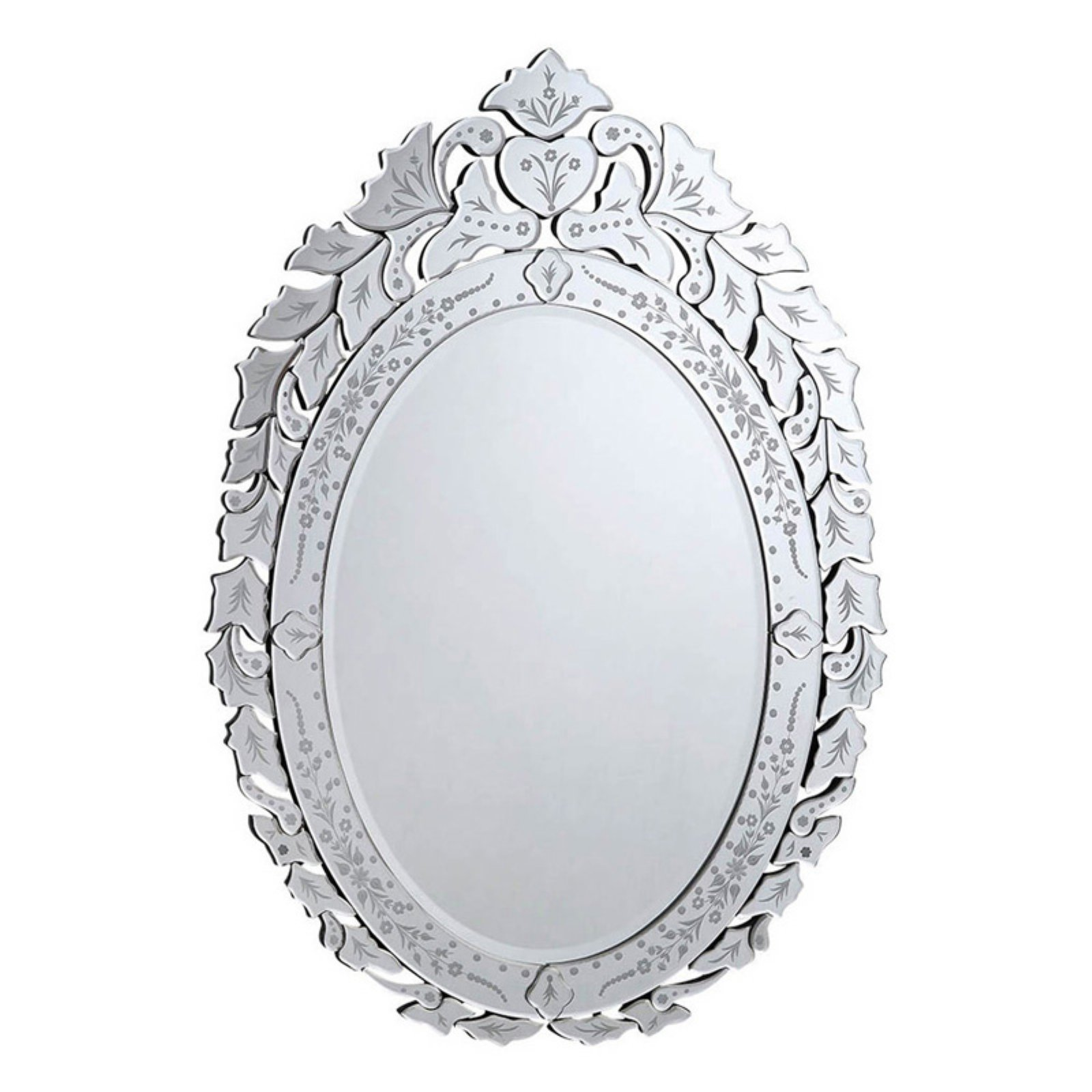 Elegant Furniture & Lighting Venetian Wall Mirror - 32.75W x 44.5H in.