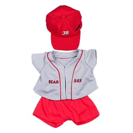 - Bear Sox Baseball w/Cap Teddy Bear Clothes Fits Most 14
