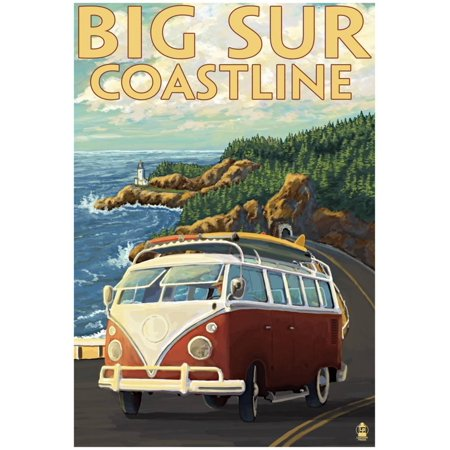 California Bib (Big Sur, California - Vw Coastal Drive Poster -)
