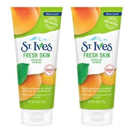 (2 Pack) St. Ives Fresh Skin Face Scrub Apricot 6 oz