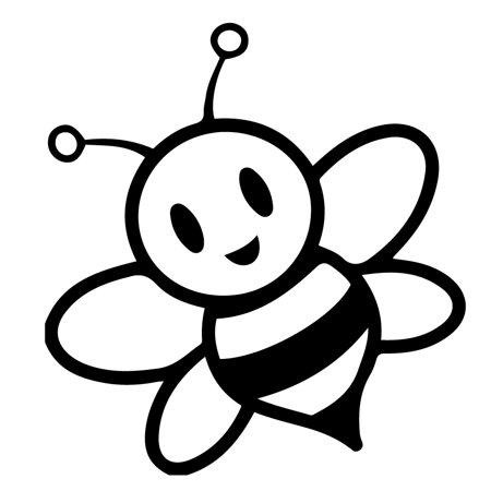 Cute Bumblebee Bee Insect Stripes Kid Girl Vinyl Decal Sticker 5