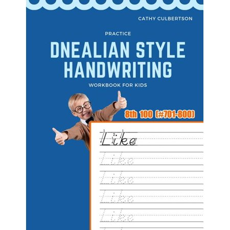 1000 Fry Sight Words Dnealian Handwriting: Practice Dnealian Style Handwriting Workbook for Kids: Tracing and review 8th 100 Fry Sight Words book (Paperback) thumbnail