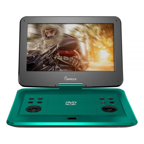 Impecca DVP-1330T 13in Portable Dvd Player, Teal