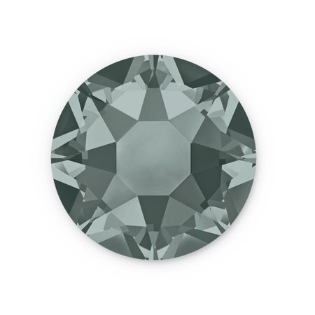 Swarovski Xilion Rose Hot Fix Crystals 2028 4.7mm Black Diamond (Package of 10) Hot Fix Diamond Leaf Crystal