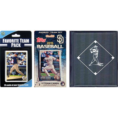 C&I Collectables MLB San Diego Padres Licensed 2015 Topps Team Set and Favorite Player Trading Cards Plus Storage Album ()