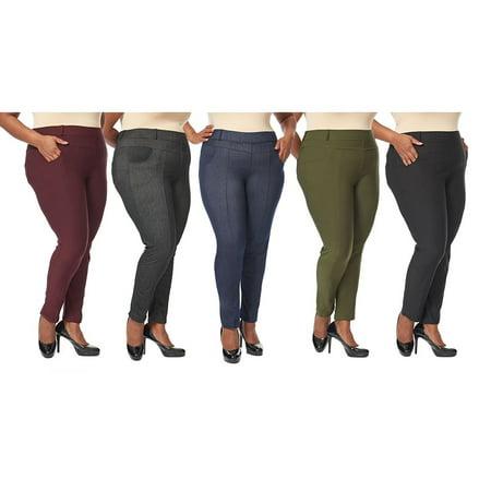04402a4ec9e TruActivewear - Women s Plus Size Jean Like Leggings Jeggings - Walmart.com