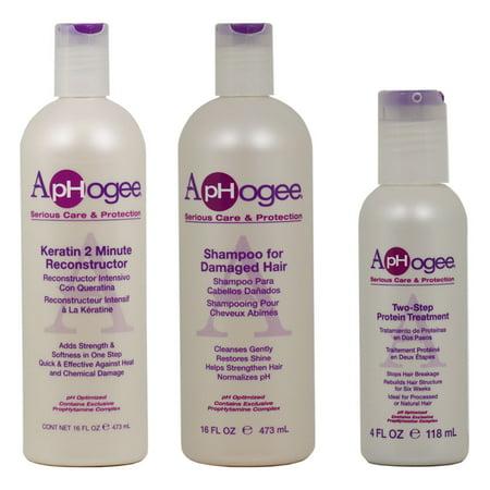 Aphogee Keratin 2 Minute Reconstructor Damaged Shampoo 16oz Two Step 4oz Quot Set Quot Walmart Com